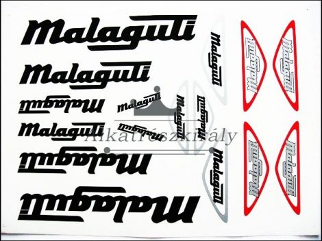 DECAL SET MALAGUTI /BLACK-SILVER/