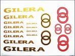 DECAL SET GILERA /GOLD-RED/