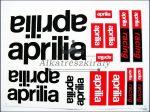 DECAL SET APRILIA /BLACK-RED/
