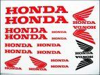 DECAL SET HONDA /RED/