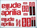 DECAL SET APRILIA /RED/