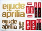 DECAL SET APRILIA /GOLD-RED/