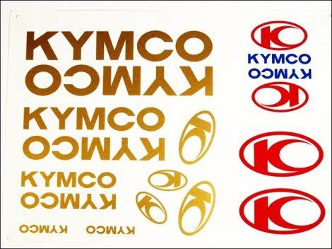 DECAL SET KYMCO /GOLD/