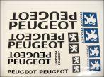 DECAL SET PEUGEOT BIG /BLACK/